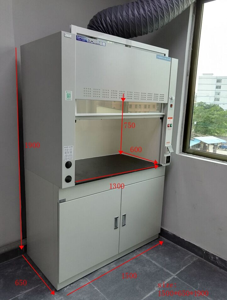 F8-PD floor-mounted fume hood with fume scrubber laboratory fume hood with base cabinet