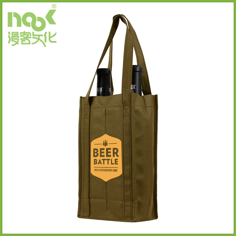 China Wholesale Custom non woven 6 bottle wine tote bag