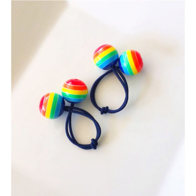New Fashion Colorful Decorative Elastic Rainbow Hair Tie