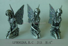 zinc alloy fairy,pewter fairy figurine,metal fairy statue