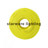 Cheap Electrical cable and wire Power Cable twisted cotton fabric wire/Neon Yellow