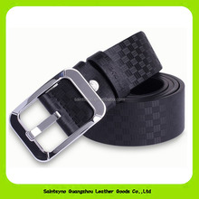 16288 Personality simple style leather belt for man with Zinc alloy buckle