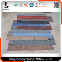 5 Tab Type Of Roofing Asphalt Shingles With Factory Lighter Roof Tile