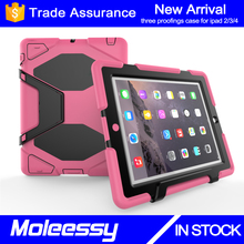 China manufacturer best selling tablet bumper cover for iPad 2 ultra-protective rugged case