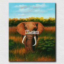 Elephant oil painting large art work modern items