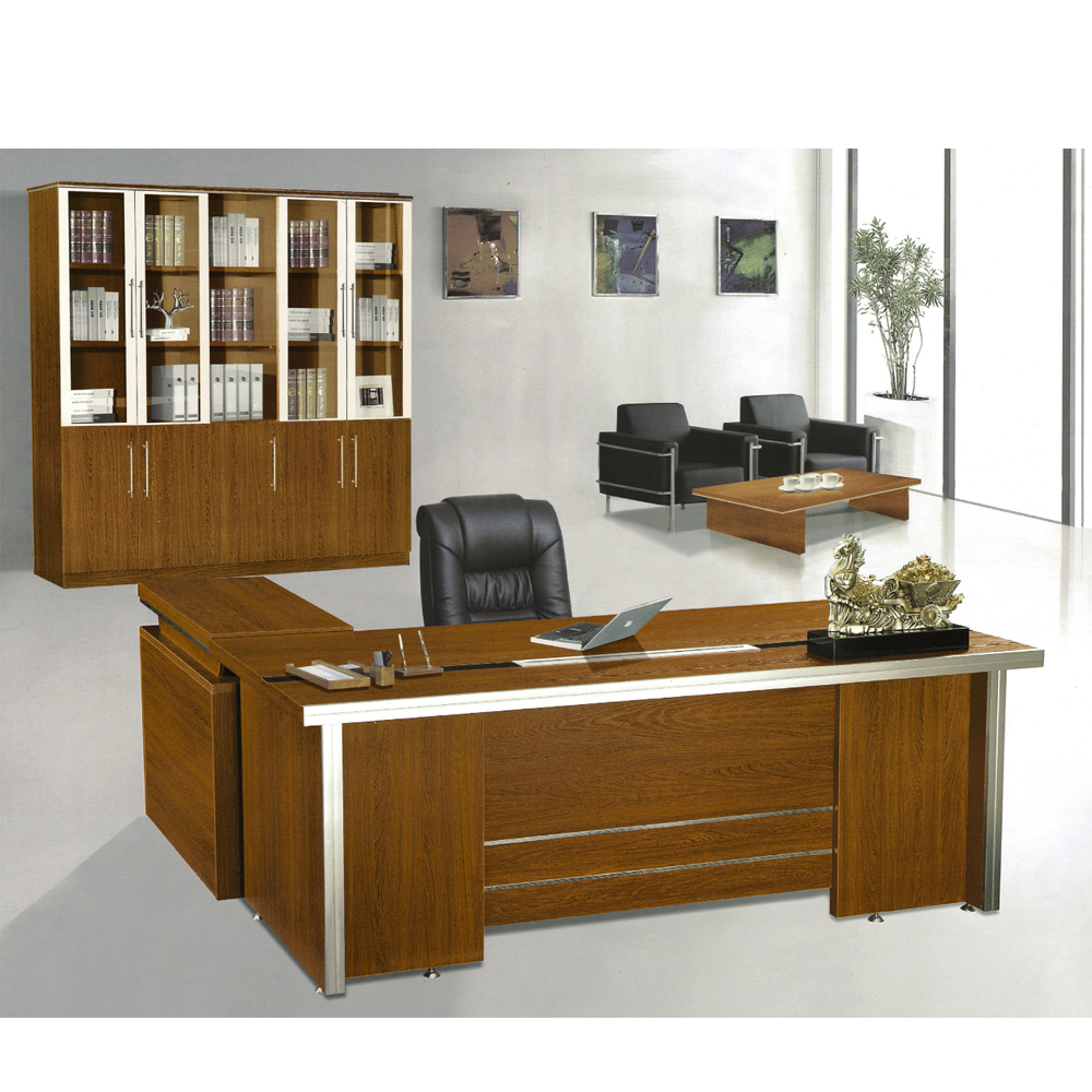 <strong>Manufacturers</strong> L sahpe desk office Melamine Executive Direction Office Table