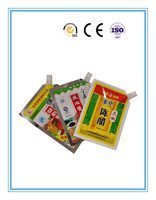Colored printing plastic food packaging stand up pouch