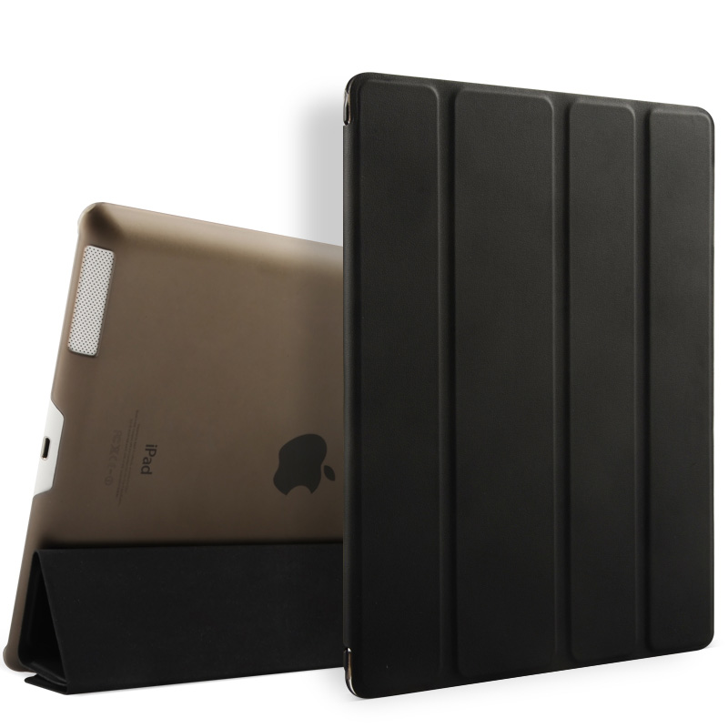 wholesale front case back cover for iPad 2/3/4 PU leather case
