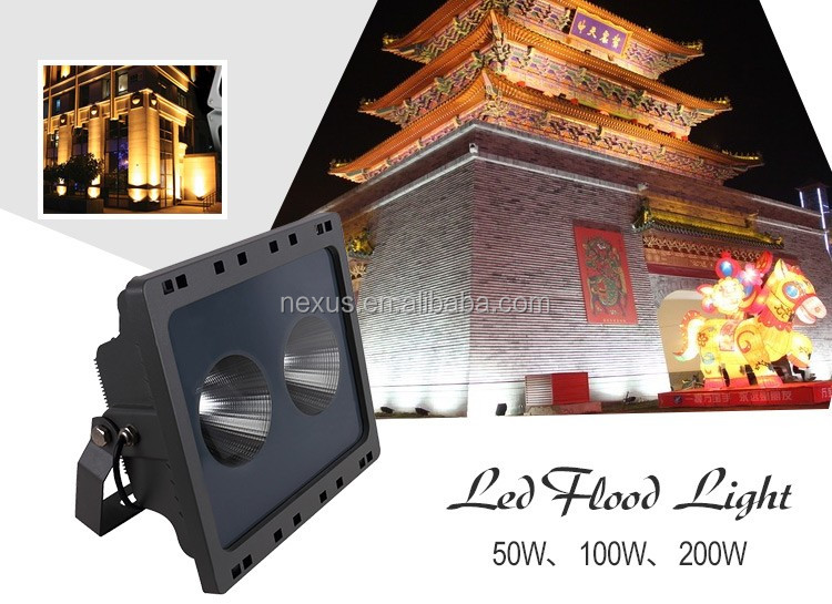 High lumens outdoor waterproof ip65 bridgelux cob 50w led floodlight