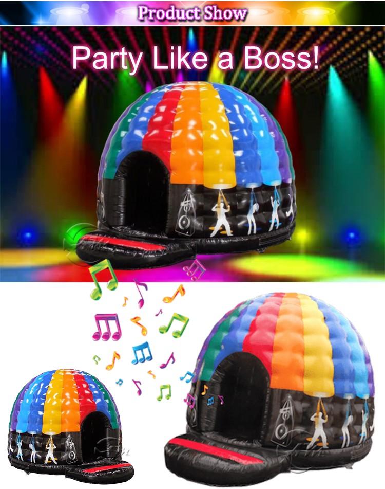 Inflatale диско купол высокое качество надувные диско купол надувной замок прыжки замок
