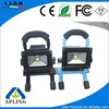 IP65 12V battery powered led flood light, long time working time led flood light, 10w 30w 20w rechargeable led flood light