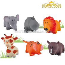 China supply custom cheap funny safe soft rubber animal toys for kids