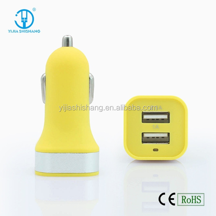 Mobile Phone Car Charger with 12 to 24V AC Input Voltage, Compatible with All Types of Models