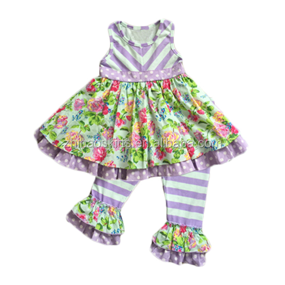 High Quality Christmas Party Baby Girls Long Sleeve Boutique Outfits In Stock Cheap Xmas Clothing Set 2pcs Dress Clothes Store