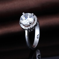 2017 High Quality Fashion 925 Silver China CZ Engagement Rings