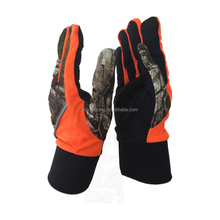 High Stretch Neoprene Camo Anti-slip Printing Hunting Neoprene gloves With Touchscreen