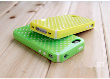 For iphone 4 4s PC+Silicone Phone Case
