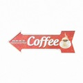 Outdoor advertising Coffee Arrow Tin Sign