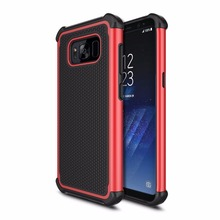 2017 newest carbon fiber 3 in 1 TPU PC protective mobile phone case For Samsung Galaxy S8 Case