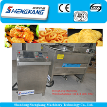 automatic french fries frying machine/croquette deep fryer/frying machine for fries from Qingdao 0086-15763056388