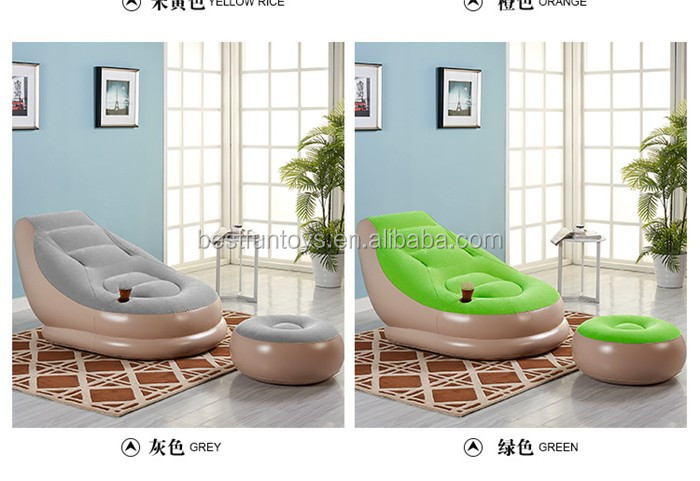 Heavy duty flocked inflatable huge reclining chair large recliners for elderly and pregnant