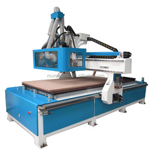 Italy spindle Servo motor Syntec automatic tool changer vacuum table 6KW ATC wood cnc router machine
