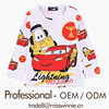 wholesale distributor children's pattern printed long sleeve chiffon top shirt