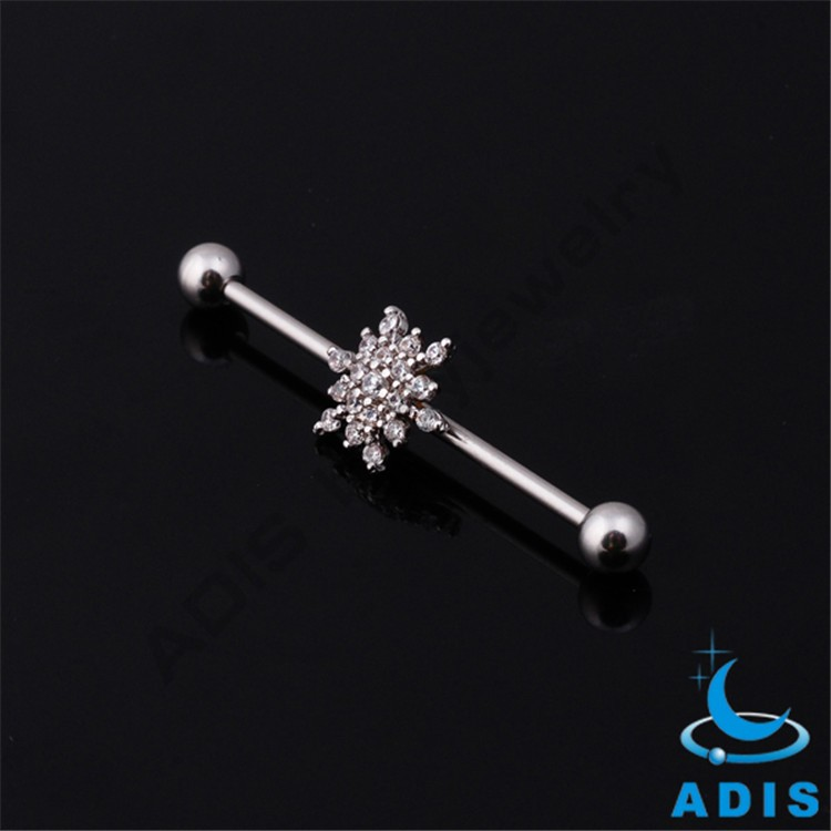 Surgical Steel ear unique fake industrial barbell piercing jewelry