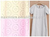 cotton voile eyelet embroidery fabric