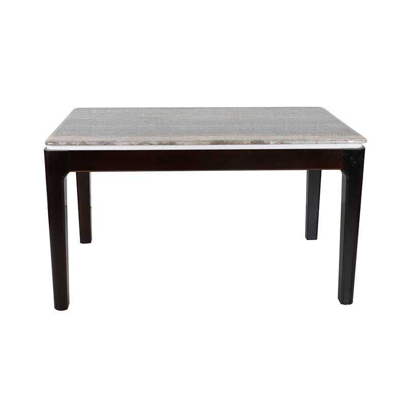 Modern Marble With Paper Top With Metal Leg Dining Table