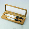 T1 knife wood case/box 5'' and7'' kitchen knife set and fork