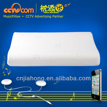 Memory foam Sound Speaker Pillow for iphone & ipad Ipod CE ROHS, SGS PATENT