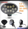 Oval off road 12v car accessories flood led work light