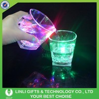 Custom Promotional Logo LED Lighting Whisky Glass,Blinking Whisky Glass,Illuminated Whisky Glass