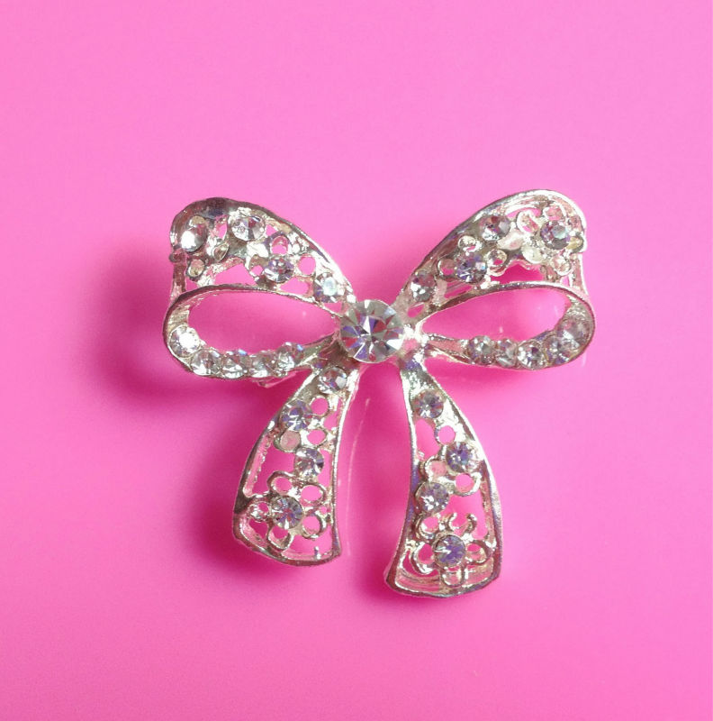 Hot selling 36*35mm rhinestone button embellishment with shank for hair flower center DIY craft like butterfly(BTN-5239))