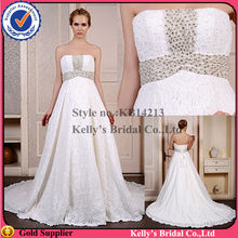 The super quality Imported french lace & luxurious bead in the bodice Middle train made to order bridesmaid dresses china