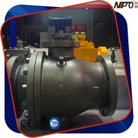 Cast Steel Two Pieces Flanged Trunnion Ball Valve