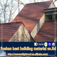 gazebo tile roof / colorful stone chip coated steel roof tile / similar fiberglass spanish roofing tiles
