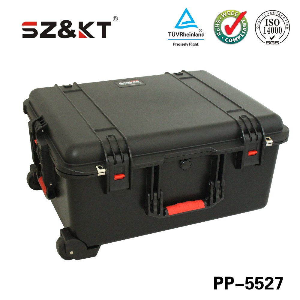 Hot!! Plastic Wateproof Equipment Case with wheels