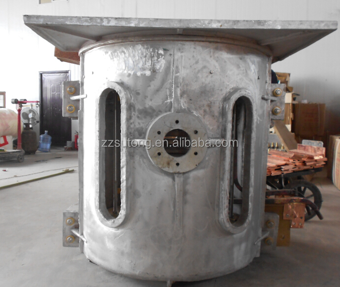 scrap iron melting furnace through electro-magnetic induction