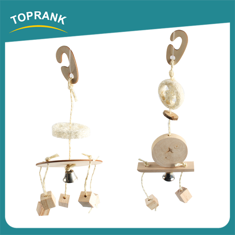 Wholesale flying bird toy, hanging wooden bird toys with bells