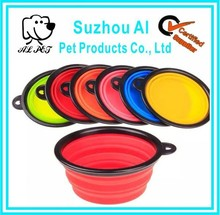 Portable Travel Folding Retractable Silicone Pet Water Food Feeding Dog Travel Bowl