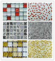 Crystal Glass Mosaic Tiles with free patterns, mosaic art