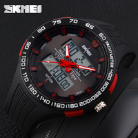 famous brand skmei factory wholesale digital watch for men outdoor big dial dual time zone sport watch 1066