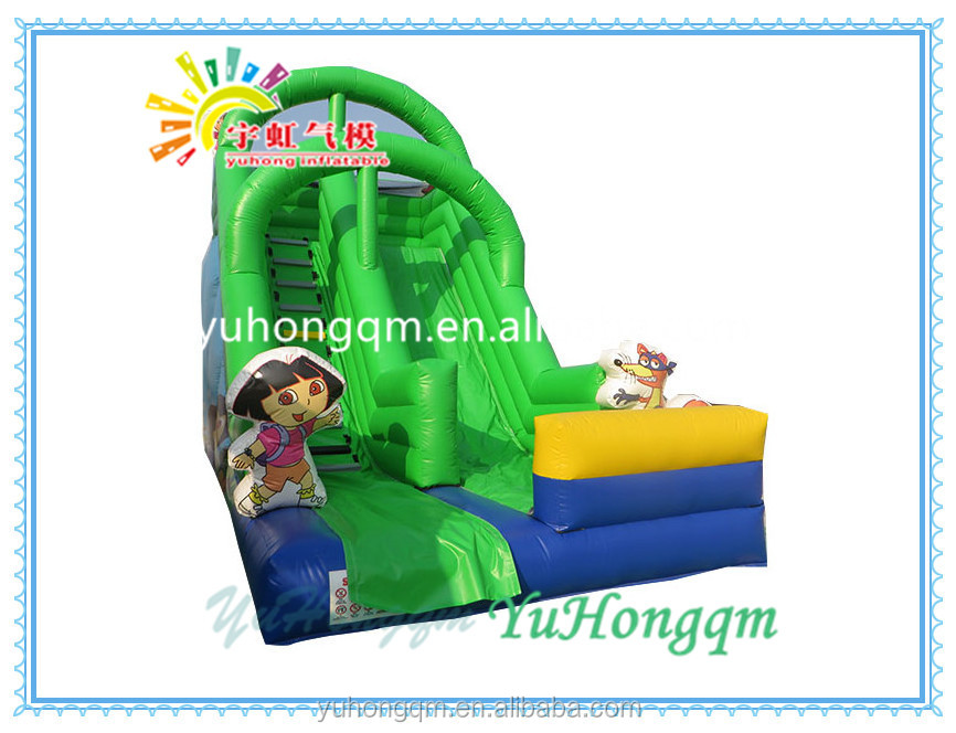 Promotional factory price inflatable cartoon characters slide, kids inflatable amusement park