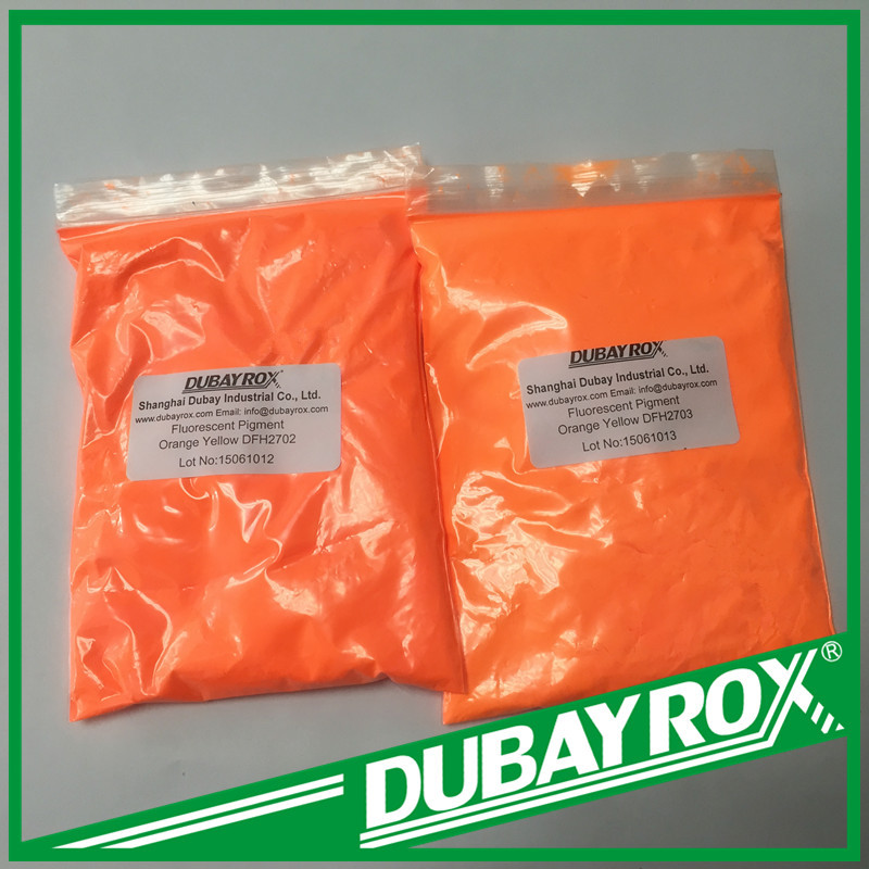 Fluorescent Pigment orange yellow DFP 1902 Fluorescent pigment for textiles / waterbased paper coating / oil based paints