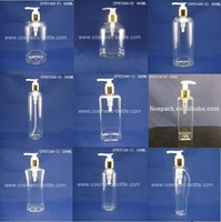 clear / colored PET plastic fancy lotion bottles