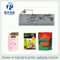 Automatic sachet detergent/shampoo/hair wash/bath wash forming filling sealing packing machine