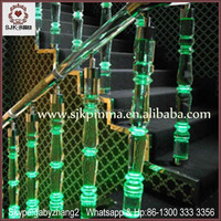 Clear Acrylic Stair Wedding Stages Crystal Pillars