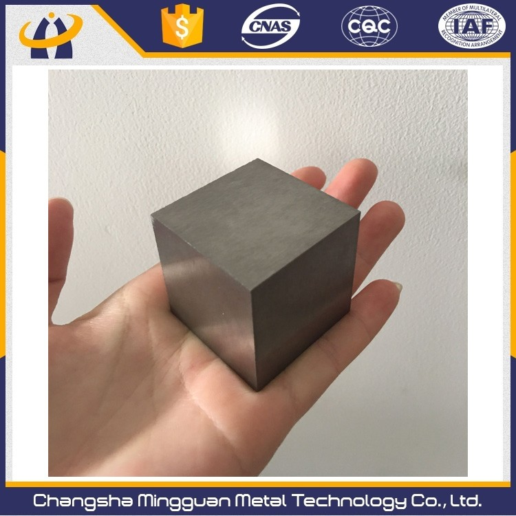 Density 19.3 g/cm3,pure tungsten cubes